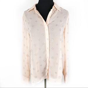 ALI & KRIS | Blush Pink Sheer Star Blouse Medium
